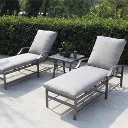 Bellini - Paragon 3-piece Chaise Set - If you dream of enjoying relaxing siestas on warm, breezy afternoons, or dine alfresco, this attractive and contemporary Paragon 3-piece Chaise Collection is just what you need. You will be seated in luxurious comfort for hours on end.