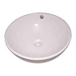 Flotera - Pearl White Ceramic Modern Contemporary Vessel Sink with Overflow - Space: Vessel sinks often offer a smaller surface area, allowing you to have more counter-top space.