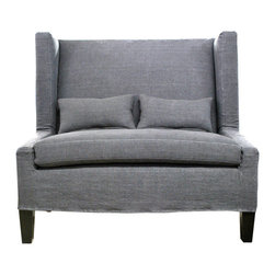 Demi Ryan - Demi Ryan Lucy Loveseat - Add stylish seating to your room with this comfortable Lucy Loveseat. This modern piece features impeccable style with a tailored look.