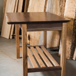 Hand crafted kitchen island - This is a hand made black walnut kitchen island with seating for 2.