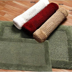 INSTEN - Ashland Cotton 2-piece Bath Mat Set - Update your bathroom decor with this two-piece cotton bath mat set. Each mat is crafted from ultra-soft, absorbent cotton and designed with a spray latex backing that prevents skidding, so you can stay safe even when your floors are wet.