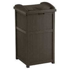 Contemporary Curbside Trash Cans by Home Depot