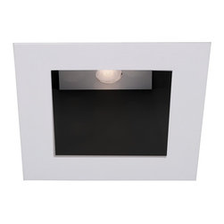 "WAC Lighting - 4"" LEDme Square Open Reflector Downlight Trim, Hr-Led451-Bk/Bn - 4"" LEDme Square Open Reflector Downlight Trim"
