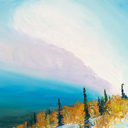 """Ann Rea - Bring home Deer Valley, Utah with """"Snowed Sky"""" by Ann Rea, oil painting - """"I was attracted to the big sky over Deer Valley as it whipped up the weather."""" -Ann Rea"""