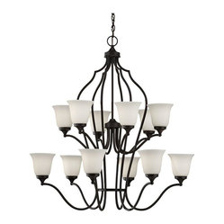 Golden Lighting Rbz Foyer Chandelier In Rubbed Bronze
