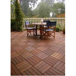 HandyDeck Patio Pavers - There's no better way to spruce up a boring concrete patio floor than with tile — and no easier way of tiling than this. No special tools, no adhesives, easy-peasy!