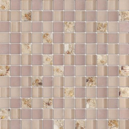 Serene Desert Sand Shell Glossy & Matt Square Pattern Glass Mosaic Tiles, Sample - 1 in. x 1 in. Serene Desert Sand Shell Mesh-Mounted Square Pattern Glass Mosaic Tile is a great way to enhance your decor with a traditional aesthetic touch. This Glossy & Matt Mosaic Tile is constructed from durable, impervious Glass material, comes in a smooth, unglazed finish and is suitable for installation on floors, walls and countertops in commercial and residential spaces such as bathrooms and kitchens.