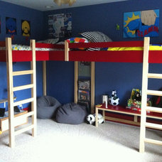 Modern Kids Beds Double Loft Bed