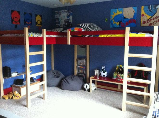 Modern Kids Beds Double Loft Bed