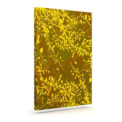 "Kess InHouse - Iris Lehnhardt ""Twigs Silhouette Earthy"" Brown Yellow Wrapped Art Canvas (30"" x - Bring your outdoor patio to life with this artistic outdoor canvas wrap featuring gorgeous artwork by KESS InHouse. These canvases are not only easy to hang and remove but also are the perfect addition to your patio collection. These canvases are stretched around a wooden frame and are built to withstand the elements and still look artistically fabulous. Decorating your patio and walls with these prints will add the splash of art and color that is needed to bring your patio collection together! With so many size options and artwork to choose from, there is no way to go wrong with these KESS Canvas Wraps!"