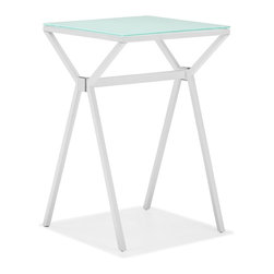 Zuo Modern - Zuo Modern Xert Modern Counter Table X-781106 - Relax and sip on a martini with our Xert bar series. Table has a painted glass top on a sturdy steel base. Perfect for entertaining in style.
