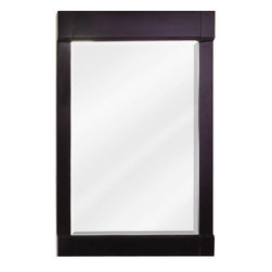 "Hardware Resources - Elements Mirror - 28"" x 34"" Espresso mirror with beveled glass"