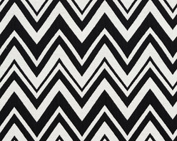 Black and White Chevron Zig-Zag Upholstery Fabric By The Yard - This upholstery fabric is great for all indoor upholstery, bedding, window treatments and fabric related projects. This material combines luxury with durability. It will truly look great on any piece of furniture.