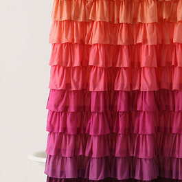 ... Ombre Ruffle Curtains : Pink Ombre Ruffle Shower Curtain ...