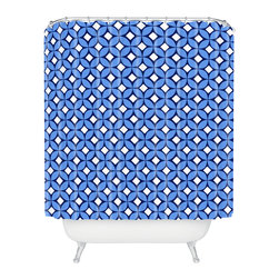 DENY Designs - Caroline Okun Blueberry Shower Curtain - Find your thrill. The blueberry, navy and white print on this shower curtain is guaranteed to start your day off right. Each piece is custom printed on woven polyester and is machine washable. Add a juicy splash of style to your life.