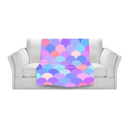 DiaNoche Designs - Fleece Throw Blanket by Organic Saturation - Pastel Scales Pattern - Original Artwork printed to an ultra soft fleece Blanket for a unique look and feel of your living room couch or bedroom space.  DiaNoche Designs uses images from artists all over the world to create Illuminated art, Canvas Art, Sheets, Pillows, Duvets, Blankets and many other items that you can print to.  Every purchase supports an artist!