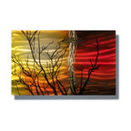 Miles Shay - Metal Art Wall Art Decor Abstract Contemporary Modern Sculpture - Sunset Tree - This Abstract Metal Wall Art & Sculpture captures the interplay of the highlights and shadows and creates a new three dimensional sense of movement as your view it from different angles.