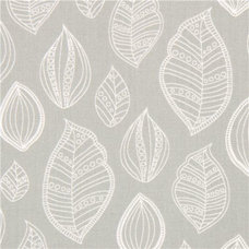 Fabric grey leaf fabric by Robert Kaufman USA Modern Bliss