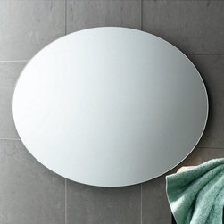 """Gedy by Nameeks - Planet 22"""" x 30"""" Vanity Mirror - Features: -Vanity mirror. -Finish: Polished. -Constructed of mirror. -Shape: Round. -Wall mounted. -For contemporary bathrooms. -Dimensions: 21.7"""" H x 0.8"""" D x 29.5"""" W."""