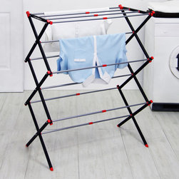 Samsonite - Samsonite Steel Expandable Dryer Rack - Give your clothes a place to air out with this expandable Samsonite dryer rack. Unlike a typical hot air dryer,this collapsible rack will not cause your clothing to shrink or wear out,allowing your clothing to stay new longer.