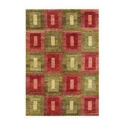 """Noble House - Legacy Green/Rust Rug - Unlike other collections, geometric designs in latest vibrant colors with tie dyed look in hand knotted weave is the specialty of the Legacy Collection. This collection is inspired by current fashion trends and is hand woven with the finest hand spun wool. Features: -Technique: Knotted / Woven.-Material: Wool.-Depending on amount of traffic on rugs, professional cleaning or washing is required every 1 to 2 years..-Rugs should be vacuumed on regular basis to remove dust and dirt which would restore life to the fibers. Do not vacuum the fringes. Do not Vacuum Shaggy rugs as it will damage the rug. To clean the Shaggy rug, flip it over and shake well by hand..-To avoid spills setting deep and becoming stubborn, it is recommended to act immediately. When spills occur on rugs, put some water in the affected area to dilute, blot with clean white cloth or paper towel. Remove the moisture as much as possible by blotting with absorbent cloth or thick paper towel. Do not rub spills as could result in setting spills deeper in the affected area..-Features:Construction: Handmade.-Recommended Care:Do not expose rugs in direct sun light for longer time as it could result in faded colors of rugs..-Collection: Legacy.-Distressed: No.-Collection: Legacy.-Construction: Handmade.-Technique: Knotted.-Primary Color: Green-Rust.-Type of Backing: Latex.-Material: Wool.-Fringe: No.-Reversible: No.-Rug Pad Needed: No.-Water Repellent: No.-Mildew Resistant: No.-Stain Resistant: No.-Fade Resistant: No.-Eco-Friendly: No.-Recycled Content: No.-Outdoor Use: No.-Product Care: In case of liquid, blot clean with undyed cloth by pressing firmly around the spill to absorb as much as possible..Specifications: -CRI certified: No.-Goodweave certified: No.Dimensions: -Pile height: 0.08''.-Overall Dimensions: 72-168'' Height x 48-120'' Width x 0.08'' Depth.-Pile Height: 0.75"""".-Overall Product Weight (Rug Size: 10' x 14'): 90 lbs.-Overall Product Weight (Rug Size: 4' x """