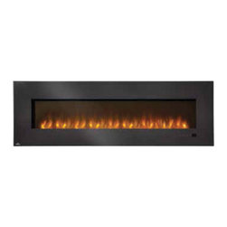 "Wolf Steel - EFL72H Napoleon Electric Fireplace - 110V-1500 Watts (5,000 BTU's) heater, Complete with hand held remote, Features reliable energy-saving LED technology, Mobile home approved, Wall mount or recessed    Offers a clean, crisp contemporary  design and the conveniences of simply hanging, plugging in and enjoying. Features an unmatched flame technology and realistic flame pattern, a generous glass front with wide black glass framing,  a contemporary glass ember bed and an LED light strip. Can be recessed into a 2"" + 4"" wall for reduced protrusion into the room or  surface mounted on the wall. A beautiful way to add ambiance and  comfort to any room in the home."