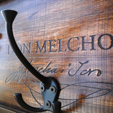 Hanging Coat Rack - Handcrafted Home goods with wine flavour from vinowares