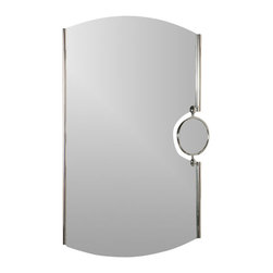Decor Wonderland Mirrors - Decor Wonderland Frameless Chrome Mirror with Magnifier - Strike a pose in front of this stylish and super modern chrome framed wall mirror with 2x magnification. Perfect mirror for bathroom.