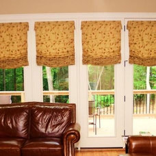 Eclectic Roman Shades by Best Blinds