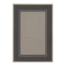 """Couristan - Tides Astoria Rug 0058/4008 - 5'3"""" x 7'6"""" - Tastefully simple these durable, weather-defying area rugs are suitable for indoor and outdoor use. You'll love the way their warm, neutral color-schemes coordinate with today's most popular outdoor furniture pieces. Perfect for patio decks, kitchens and entryways the simplicity and practicality of each design offered in Tides will provide your setting of choice with an universal appeal."""