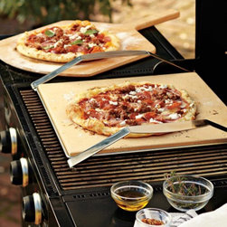 Pizza Stone with Frame - Make brick-oven pizza in the comfort of your own backyard with these pizza stones from Williams-Sonoma.
