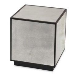 Uttermost - Uttermost Matty Metal Mirrored Cube Table - Add modern style to any room of your home with the Uttermost Matty mirrored cube table. Appreciate the clean lines and contemporary style on the Uttermost cube table.