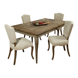 "Pastel Furniture - Pastel Furniture Utopia 5 Piece 72x42 Rectangular Dining Room Set - The Philadelphia Collection features Utopia Wood Rectangular Dining Table with72""x42"" Distress Charcoal wood top. It is paired with Philadelphia Side Chair that is chair is finished in Distress Charcoal wood and elegantly upholstered in Cream My Linen."