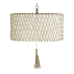 Ro Sham Beaux Maya Pendant - This beautiful neutral pendant is glam and natural all rolled into one. It would be just beautiful in a white, bright and airy bedroom.
