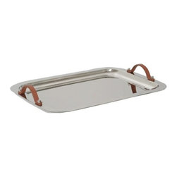 Aluminum Tray with Leather Handles - Details of Design