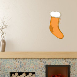 Christmas Stocking Vinyl Wall Decal ChristmasStockingUScolor006; 72 in. - Vinyl Wall Decals are an awesome way to bring a room to life!
