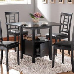 Acme Furniture - Drew Black Dining Table with Storage - 19000BLK - Drew Collection Table