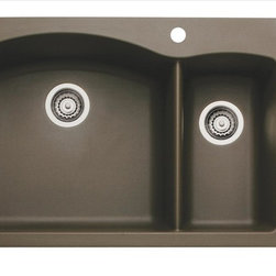 Blanco - Blanco Cafe Brown Sink - The beauty of our colorful 1-1/2 bowl design is only enhanced by its incredible durability. Heat-resistant, scratch-resistant and created to reflect the natural look of stone, this is one sink you have to see and feel to believe.