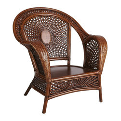 Azteca Armchair, Pecan Brown - The distinction between indoor and outdoor furniture is slowly coming to an end. Multifunctional designs like this Aztec-style woven armchair will soon have you asking yourself wether you should be lugging your outdoor pieces inside and vice versa.