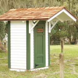 Small Tool Shed - 3'x3' small storage shed with roof overhang