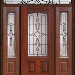 """Prehung Side lights-Transom Door 80 Fiberglass Marsais Arch Lite - SKU#MCT06395_DFAMS1-2RUBrandGlassCraftDoor TypeExteriorManufacturer CollectionArch Lite Entry DoorsDoor ModelMarsaisDoor MaterialFiberglassWoodgrainVeneerPrice4685Door Size Options32"""" + 2( 14"""")[5'-0""""]  $036"""" + 2( 14"""")[5'-4""""]  $036"""" + 2( 12"""")[5'-0""""]  $0Core TypeDoor StyleDoor Lite StyleArch LiteDoor Panel Style2 PanelHome Style MatchingDoor ConstructionPrehanging OptionsPrehungPrehung ConfigurationDoor with Two Sidelites and Rectangular TransomDoor Thickness (Inches)1.75Glass Thickness (Inches)Glass TypeDouble GlazedGlass CamingBlackGlass FeaturesTempered glassGlass StyleGlass TextureGlass ObscurityDoor FeaturesDoor ApprovalsEnergy Star , TCEQ , Wind-load Rated , AMD , NFRC-IG , IRC , NFRC-Safety GlassDoor FinishesDoor AccessoriesWeight (lbs)663Crating Size36"""" (w)x 108"""" (l)x 89"""" (h)Lead TimeSlab Doors: 7 Business DaysPrehung:14 Business DaysPrefinished, PreHung:21 Business DaysWarrantyFive (5) years limited warranty for the Fiberglass FinishThree (3) years limited warranty for MasterGrain Door Panel"""