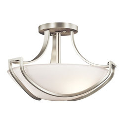 Kichler Lighting - Kichler Lighting 42651NI Owego Transitional Semi Flush Mount Ceiling Light - Kichler Lighting 42651NI Owego Transitional Semi Flush Mount Ceiling Light