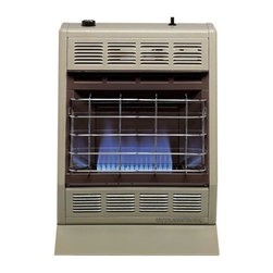 Empire Comfort - Vent-Free Blue Flame Heater BF10LP - Liquid Propane - The Blue Flame heaters warm the air, which rises to create natural circulation in the room. Ideal for any supplemental heat application. The BF-10 produce an inviting atmospheric warmth quickly and efficiently. The BF-10 is equipped with a hydraulic thermostat with a constant 10000 BTU input.