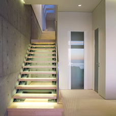 Contemporary Staircase by abodwell interior design- Brittney Fischbeck