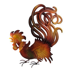 Zeckos - Metal Country Kitchen Decorative Rooster Wall Plaque 26 Inch - Are you looking for something to spice up those bare walls in your kitchen? There is no better way to give your kitchen that hearty, welcoming, family style country feel than displaying this rooster on your wall. This rooster proudly stands 26 inches tall, 19 inches wide, and is built to last with its metal construction. This is the perfect gift idea for Mom or anyone who with a bare spot on their kitchen walls.
