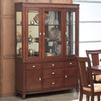 Alpine Furniture - Saratoga Hutch & Buffet - Saratoga Hutch & Buffet
