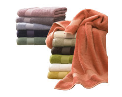 Luxor Linens - Bamboo Luxury Bath Towels, 6-Piece, Aloe - From our Estate Collection comes the Bamboo line. Made of the finest bamboo and Egyptian cotton yarns, grown in a pesticide-free environment. Its natural antibacterial characteristic is hygienically ideal for one's daily use. Its absorption is superior to cotton, its softness is incomparable. By combining these two fine yarns, we have created a masterpiece for your bathing experience.