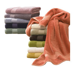 Luxor Linens - Bamboo Luxury Bath Towels - Outfit your bath in luxury with this towel set made of bamboo and heavenly Egyptian cotton. Marvelously absorbent, bamboo yarns boast a supreme softness that will enhance your after-shower bliss with an elegant feel.
