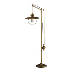 Dimond - One Light Antique Brass Floor Lamp - One Light Antique Brass Floor Lamp