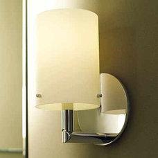 Motiv 0281 Sine Single Bathroom Light with Satin-Etched Cased Opal Glass Shade